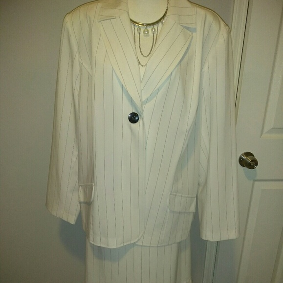 T Milano Other Plus Size Womens Pinstripe Dress Suit Poshmark
